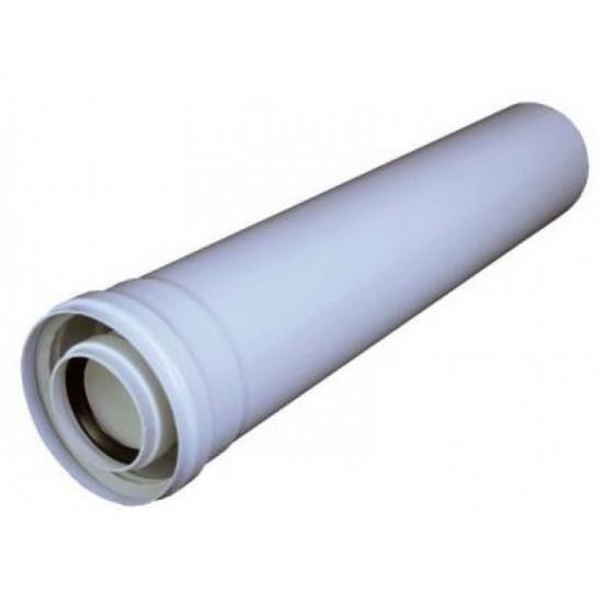 Prelungire admisie/evacuare gaze arse, coaxial, pentru centrale in condensare, Groppalli D=60/100 mm, L=500 mm