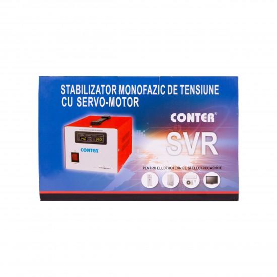 Stabilizator monofazic de tensiune cu servo-motor Conter MSER-1000VA SVR