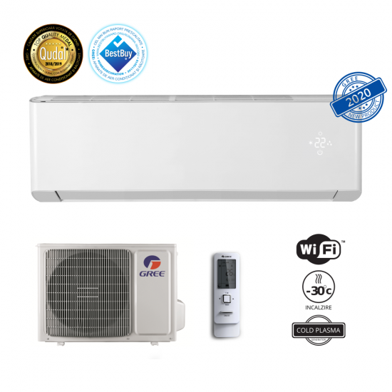 Aparat aer conditionat Gree Amber GWH24YE-S6DBA1A 24000 BTU, Wi-Fi, Cold Plasma, ECO Inverter