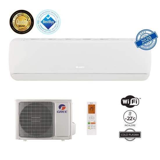 Aparat aer conditionat Gree G-Tech GWH09AEC-K6DNA1A 9000 BTU, Wi-Fi, Cold Plasma, ECO Inverter