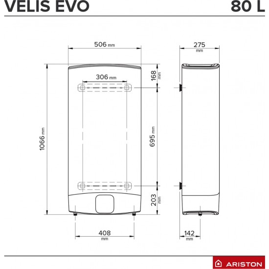 Boiler electric Ariston VELIS EVO 80 EU