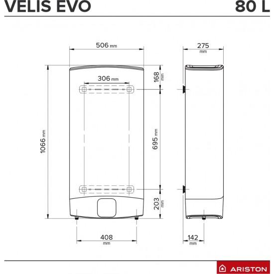 Boiler electric Ariston VELIS EVO 80 EU