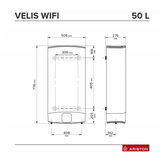 Boiler electric Ariston VELIS Wi-Fi 50 EU