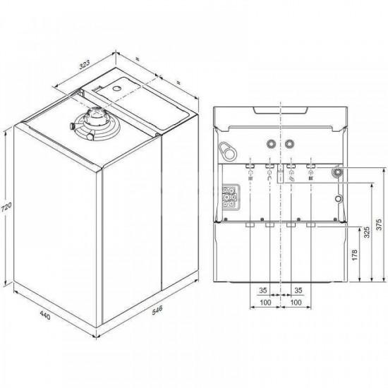 Centrala termica in condensare Vaillant ecoTEC Plus VUI 32 CS/1-5, boiler incorporat 20 litri