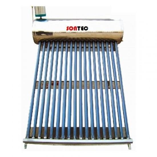 Panou solar nepresurizat, termosifon, boiler inox/inox 250 litri, 30 tuburi, Sontec SP-470-58/1800 - 250/30-C