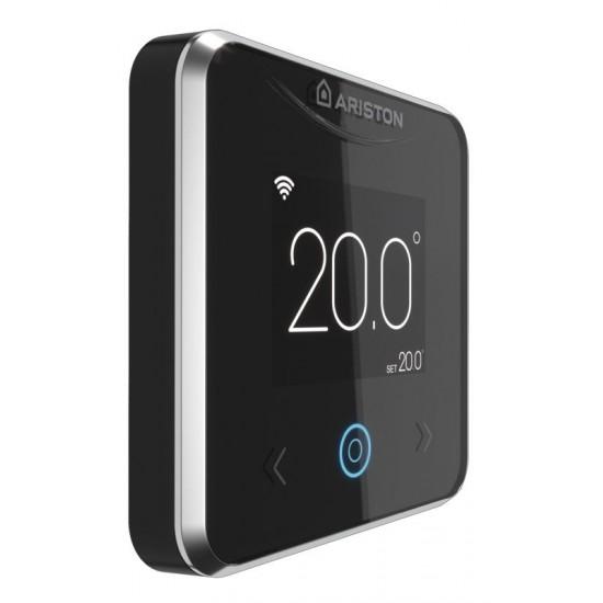 Termostat ambiental cu fir, programabil, conectare internet Wi-Fi, Ariston CUBE S NET