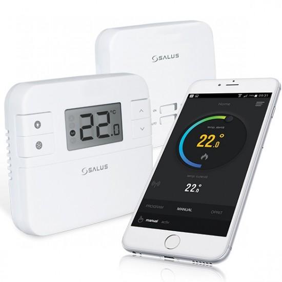 Termostat ambiental wireless, programabil, conectare internet Salus RT 310i
